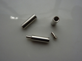 CN.S001- 5 stuks draad/tigertail/staaldraad/kabel sluitingen 3-delig tot 1mm draad