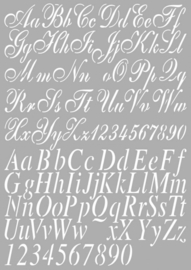 CE185045/5002- Dutch Doobadoo Dutch stencil art alphabet 2 A4
