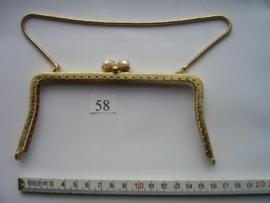 41 - TASBEUGEL 16 cm. Goudkleurig