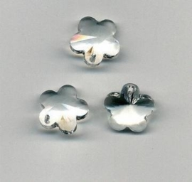117471/0898- 4 x geslepen glashangers bloem 14mm transparant