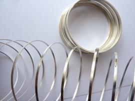 Memory Wire plat spiraaldraad voor veerarmband zilverkleur ca. 20 wikkels