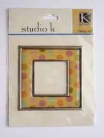 5644- K&Co metal`art lijstje 7x7cm