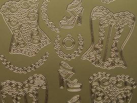st470- diverse kledingstukken goud