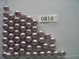 50 x glasparels 8mm licht paars 12006/0814