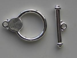 20mm kapittelslot verzilverd  -  117453/3012
