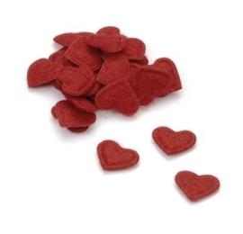 8009 568- 60 stuks hartjes van vilt decoratie van 1.5cm