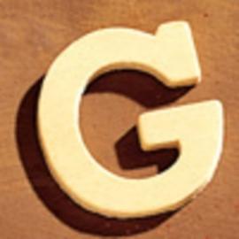 8735 613- 4cm houten letter G