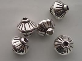 metalen kralen verzilverd 14x14mm 117465/0635