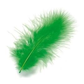 006619/0440- 15 stuks maraboe veren groen van 10cm