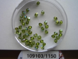 109103/1150- 50 x swarovski kralen 3mm olijf groen AB