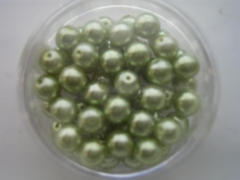 55 x glasparels rond 6mm lime groen 117472/2170