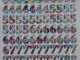 314- cijfers multicolour 10x20cm