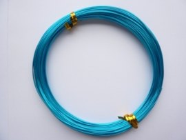 AW.16- 20 meter aluminiumdraad (Wire&Wire draad) van 0.8mm dik donker turquoise