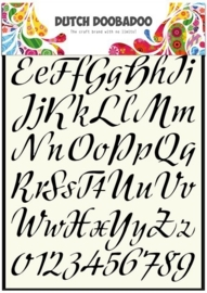 CE185045/5004- Dutch Doobadoo Dutch stencil art alphabet A4