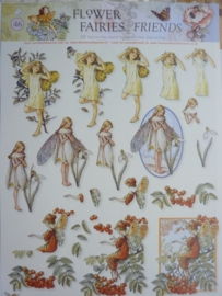 kn/1948- A4 3D knipvel Studio Light Flower Fairies nr.46 - STAP FF 46