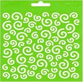 JOY6002/0807- Joy! crafts embossing achtergrondstencil poly-besa 14x14cm dolys