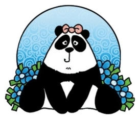 00133.I- Marianne Design clear stamp panda OPRUIMING