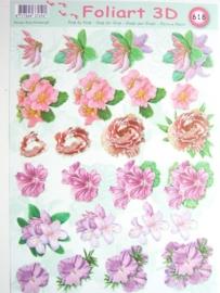 kn/456- A4 knipvel AANBIEDING foli art no.618 bloemen