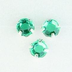 107007/0009- 12 stuks glazen rijg/naai strass steentjes 7mm rond kristal aqua