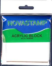 TH.NS8080- acrylblock transparant voor clearstamps 8x8cm