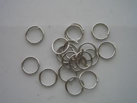 40 x ringetjes 10mm staalplated