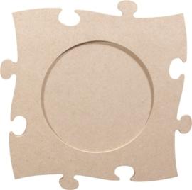 KN213270103- 3 stuks MDF puzzellijst van 24x24cm