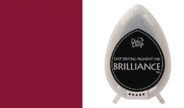 132019/1062- brilliance stempelkussen dew drops pearlescent crimson 3.5x5cm