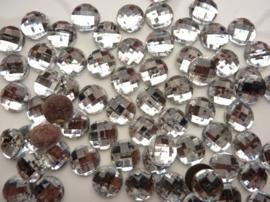 ca. 70 stuks strass stenen van 12mm kunststof zilver - SUPERLAGE PRIJS!