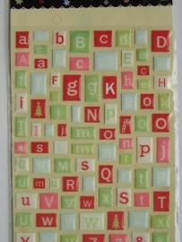 5109- 3D alfabet stickers 12x17cm making memories