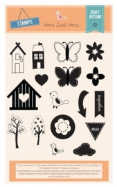 CE117012/0013- Craft asylum home sweet home clearstamps