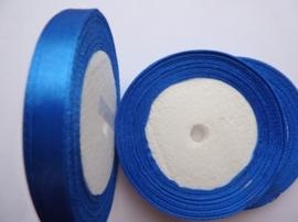 rol met 22.86 meter kobalt blauw satijnlint van 10mm breed OPRUIMING