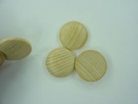 SLK.222- 3 stuks houten buttons van 3cm