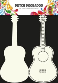 CE185071/3613- Dutch Doobadoo Dutch card art stencil guitar A4