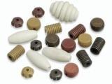 6023 458- 20 stuks houten kralen bruin tinten mix