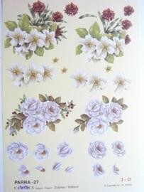 "kn/496- A4 knipvel ""parra"" no.27 bloemen"