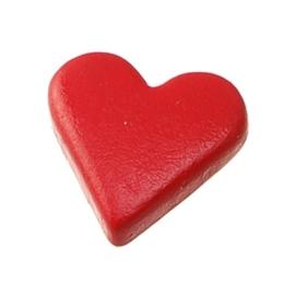6258 158- 25 stuks snaps eyelets hartjes rood van 8x10mm