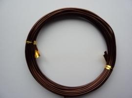 10 meter aluminiumdraad (Wire&Wire draad) van 1.5 mm dik bruin