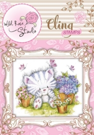 CE180017/3328- Wild Roses Studio cling stamp elsie and mouse