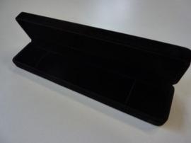 juwelendoos cadeaudoos zwart velours 25x5.7cm - SUPERLAGE PRIJS!