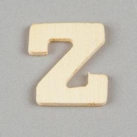 006887/1457- 2cm houten letter Z