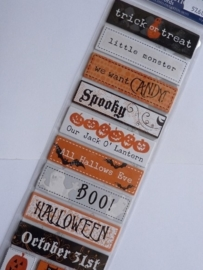 5768- prima chipboard stickers halloween 30x12cm OPRUIMING