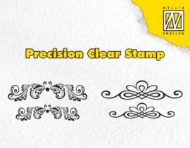 CE130510/1620- Nellies Choice precission clearstamp swirls & diamonds APST020