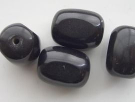 117465/4570- resin kraal 22x14mm zwart