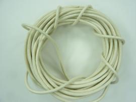 5 meter echt leren veter ivoor van 2mm dik - AA+ kwaliteit - SUPERLAGE PRIJS!