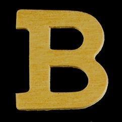 8735 607- 4cm houten letter B