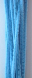 CE800700/7109- 20 stuks chenille draden van 30cm lang en 6mm dik aqua