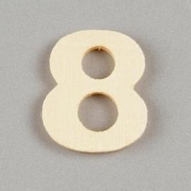2227 1589- 2cm houten cijfer 8