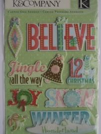5184- K&Co 3D stickers kerst afbeeldingen 11.5x15cm