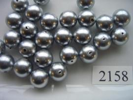 15 x glasparels rond 12mm licht grijs12006-1210