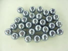 2232- 30 stuks glasparels van 10mm licht antraciet